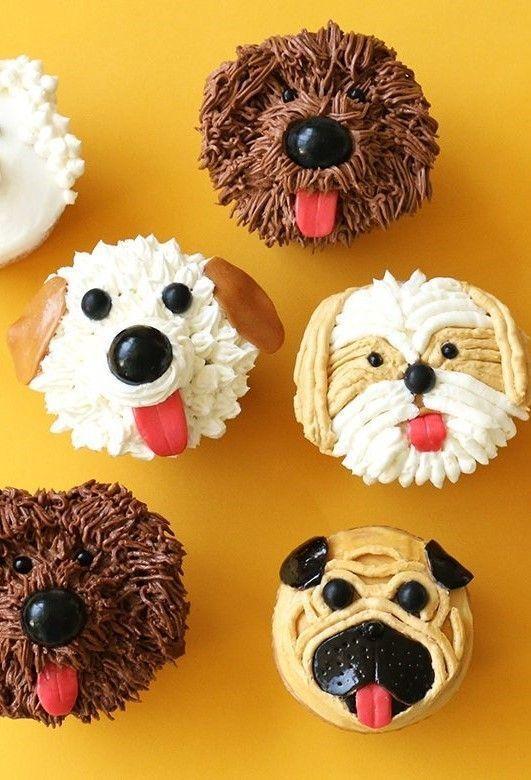 Dog Birthday Cupcake Cake