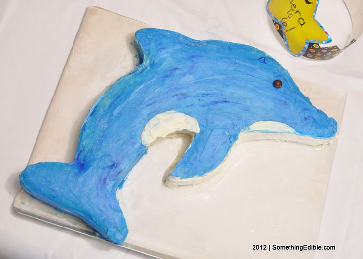 Dolphin Birthday Cake Template
