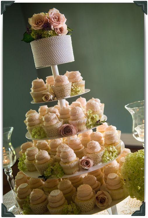 Elegant Cupcake Wedding Cakes