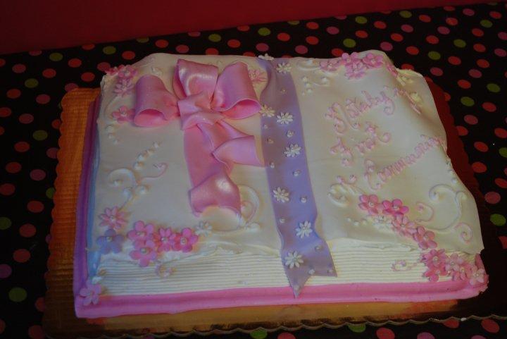 First Communion Bible Cake