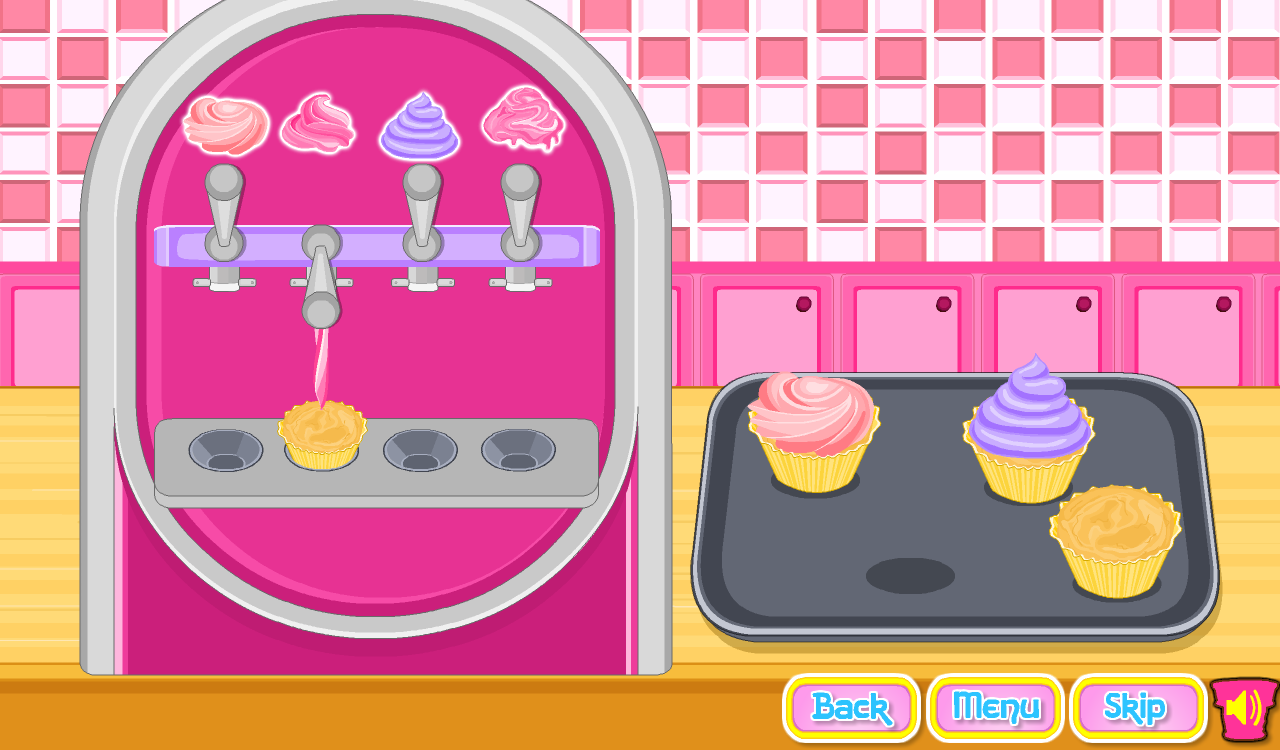 Game Cooking Ice Cream Cone Cupcake