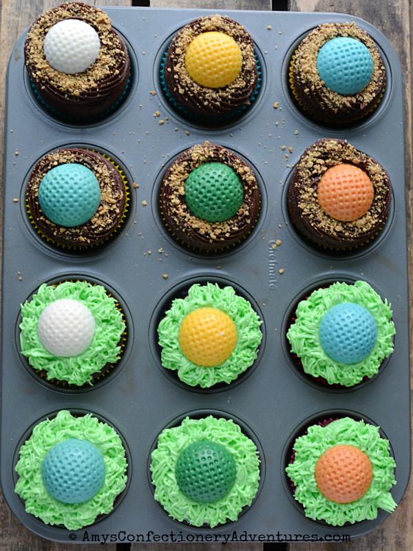 Golf Ball Cupcakes