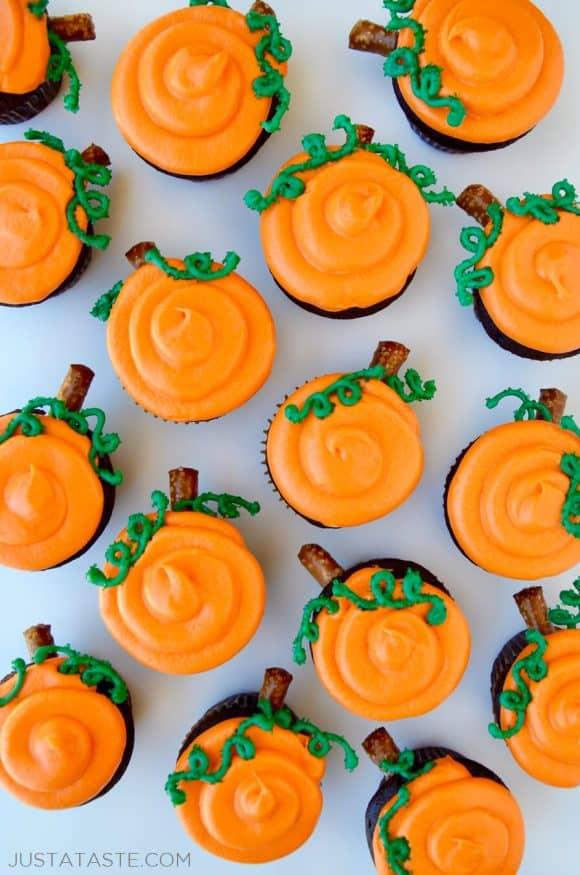 Halloween Chocolate Cupcakes