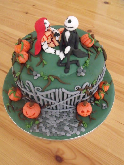 Halloween Nightmare Before Christmas Cake