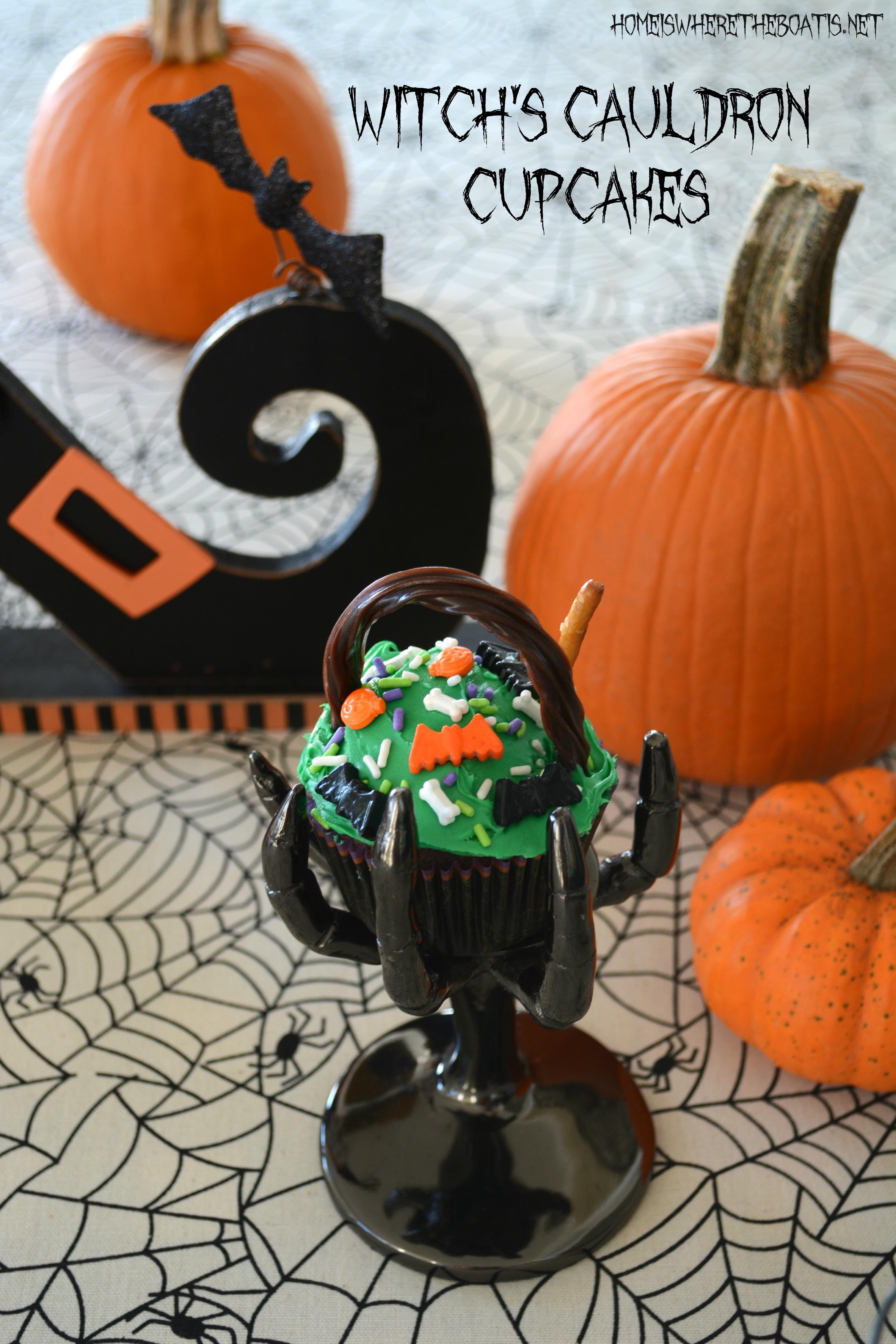 Halloween Witches Cauldron Cupcakes