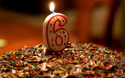 Happy Birthday Cake 6 Years Old