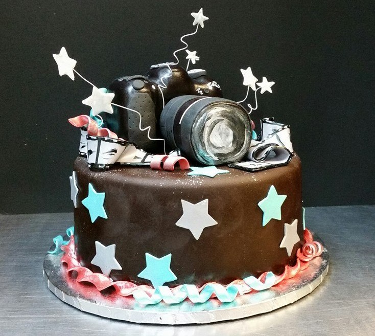 Happy Birthday Camera Cake