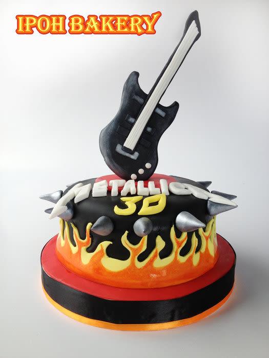 Happy Birthday Metallica Cake