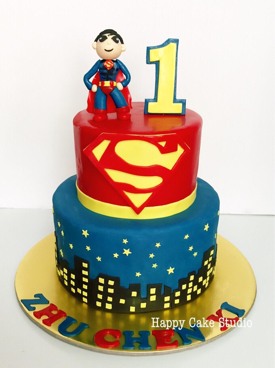 Happy Birthday Superman Cake