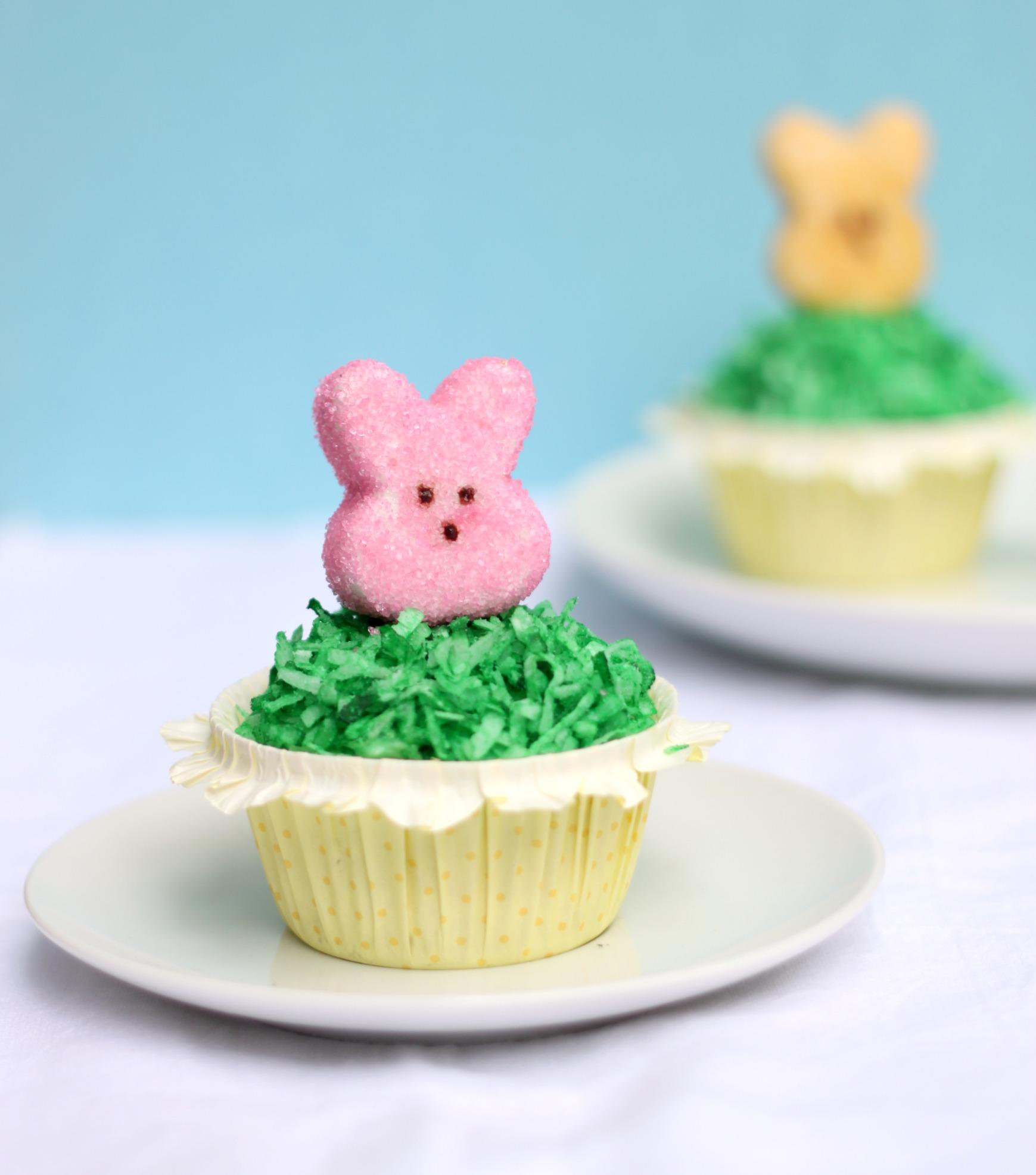 Marshmallow Peep Easter Cupcake