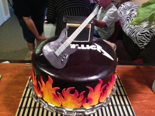 Metallica 30th Birthday Cake