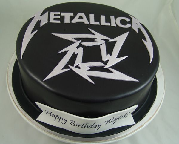 Metallica Themed Birthday Cake