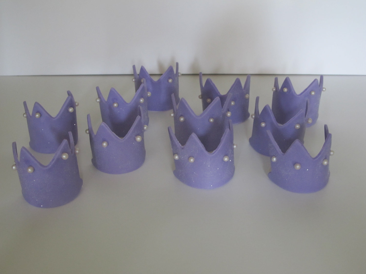 Mini Princess Tiara Cupcake Toppers
