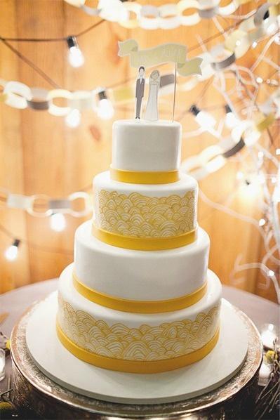 Modern Yellow White Cake