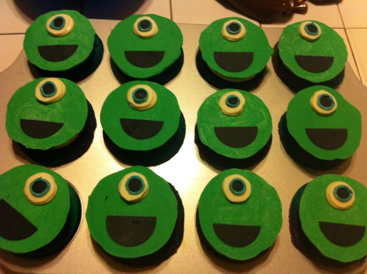 Monster Inc Baby Shower Cupcakes