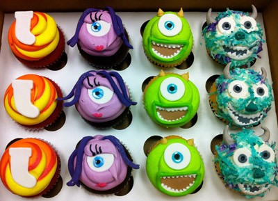 Monsters Inc Baby Shower Cakes Cupcakes