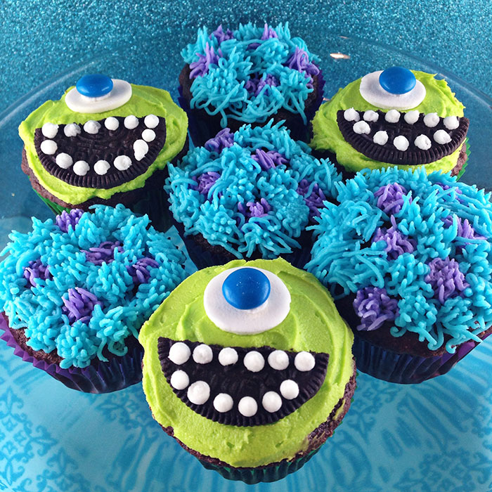 Monsters Inc Birthday Cupcakes