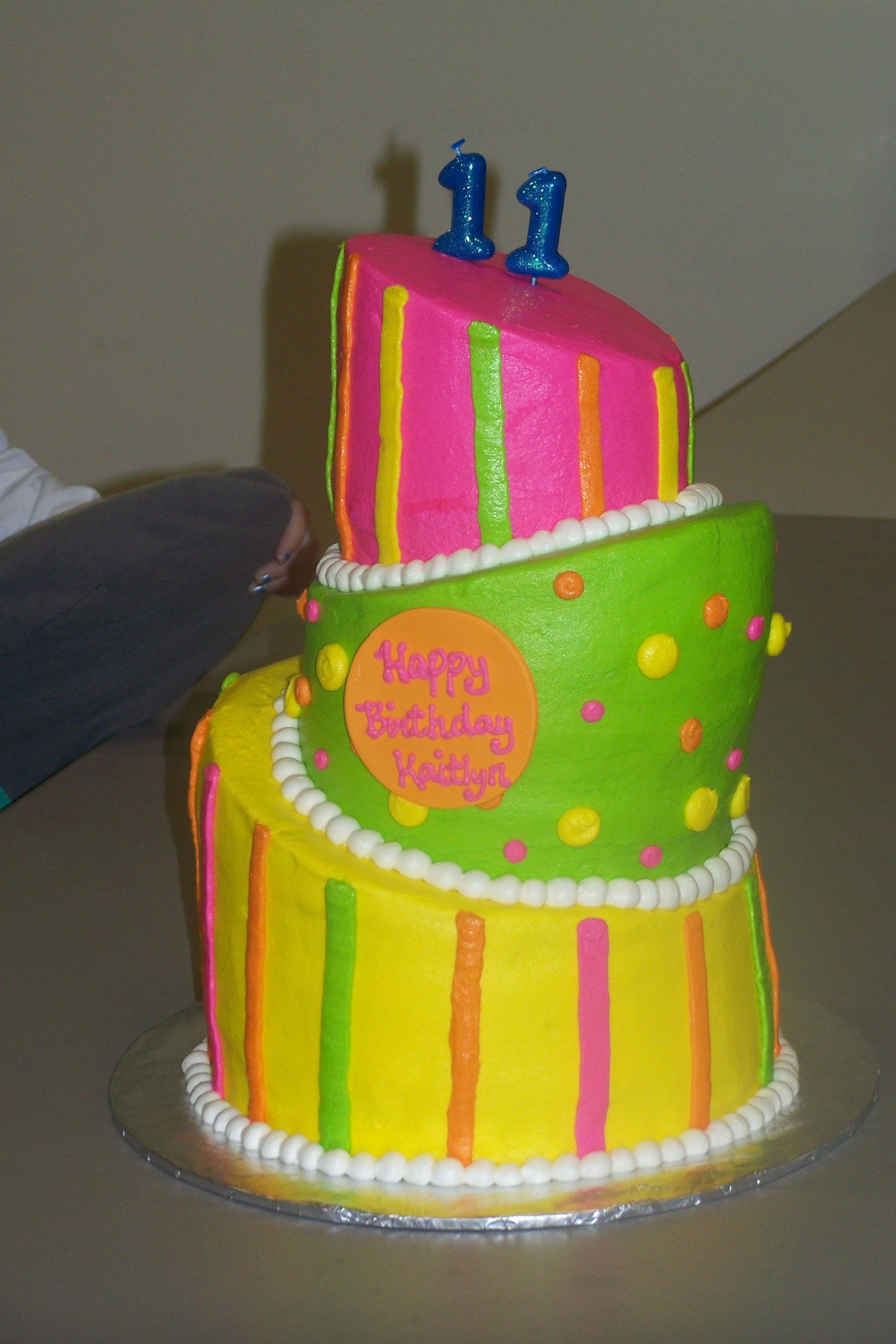 Neon Color Birthday Cakes