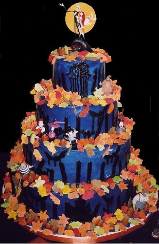 Nightmare Before Christmas Halloween Wedding Cake