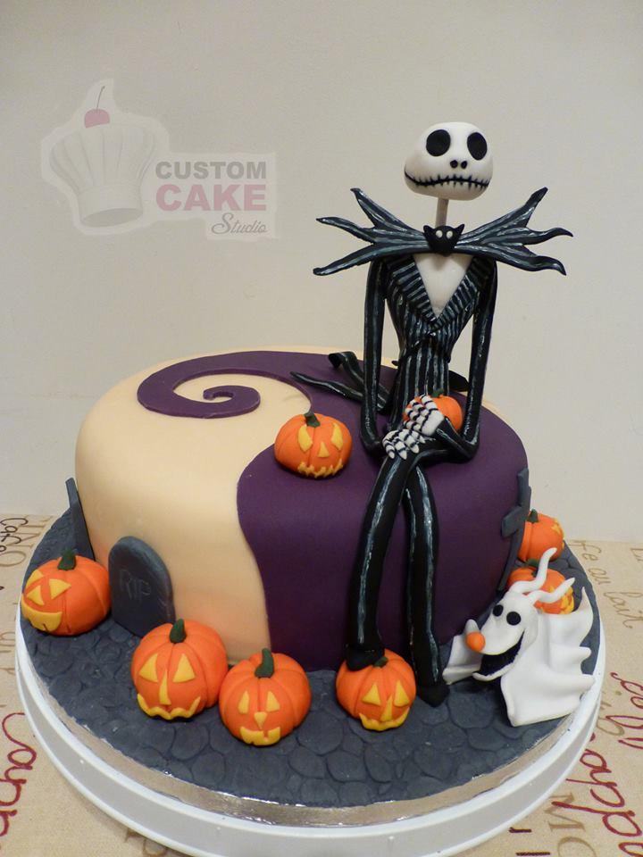 Nightmare Before Christmas Jack Skellington Cake