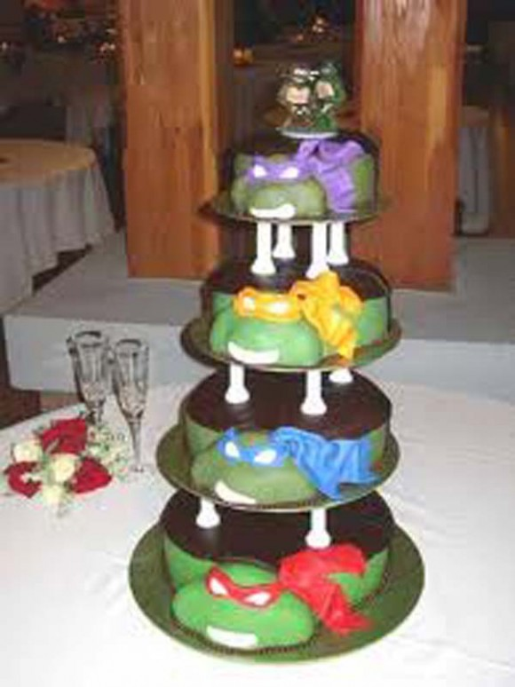 Ninja Turtle Wedding Cake