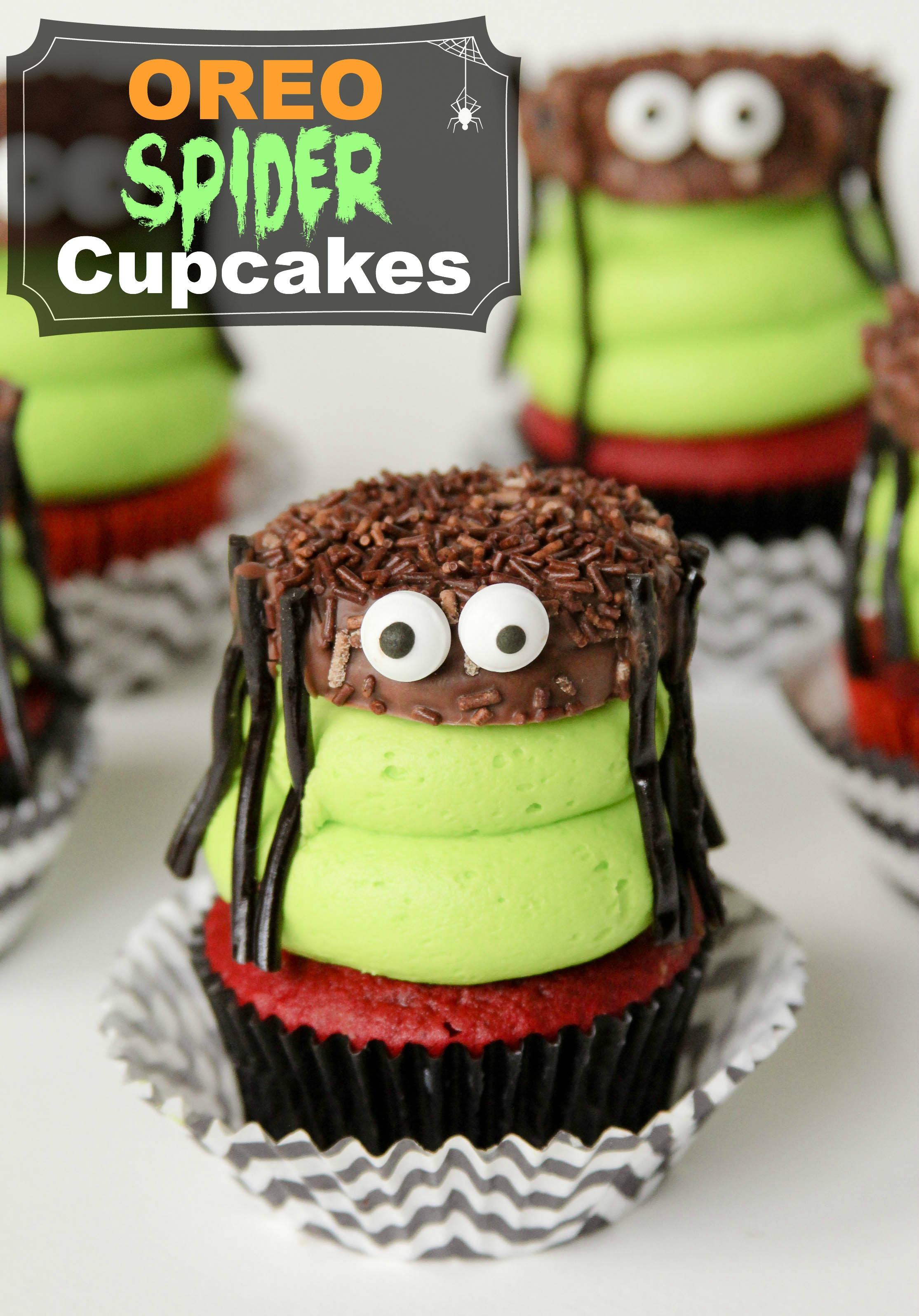 6 Photos of Halloween Spider Cupcakes With Oreos