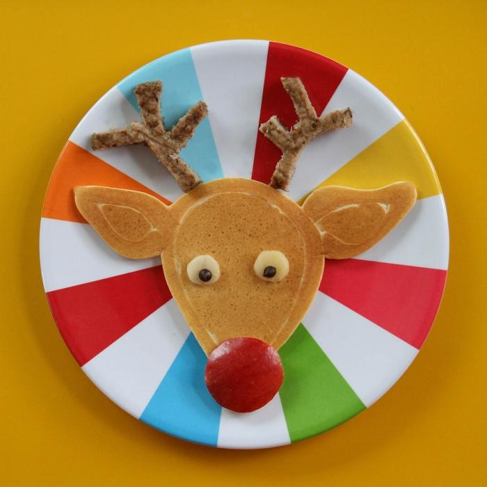 Pancake Ideas for Christmas Reindeer