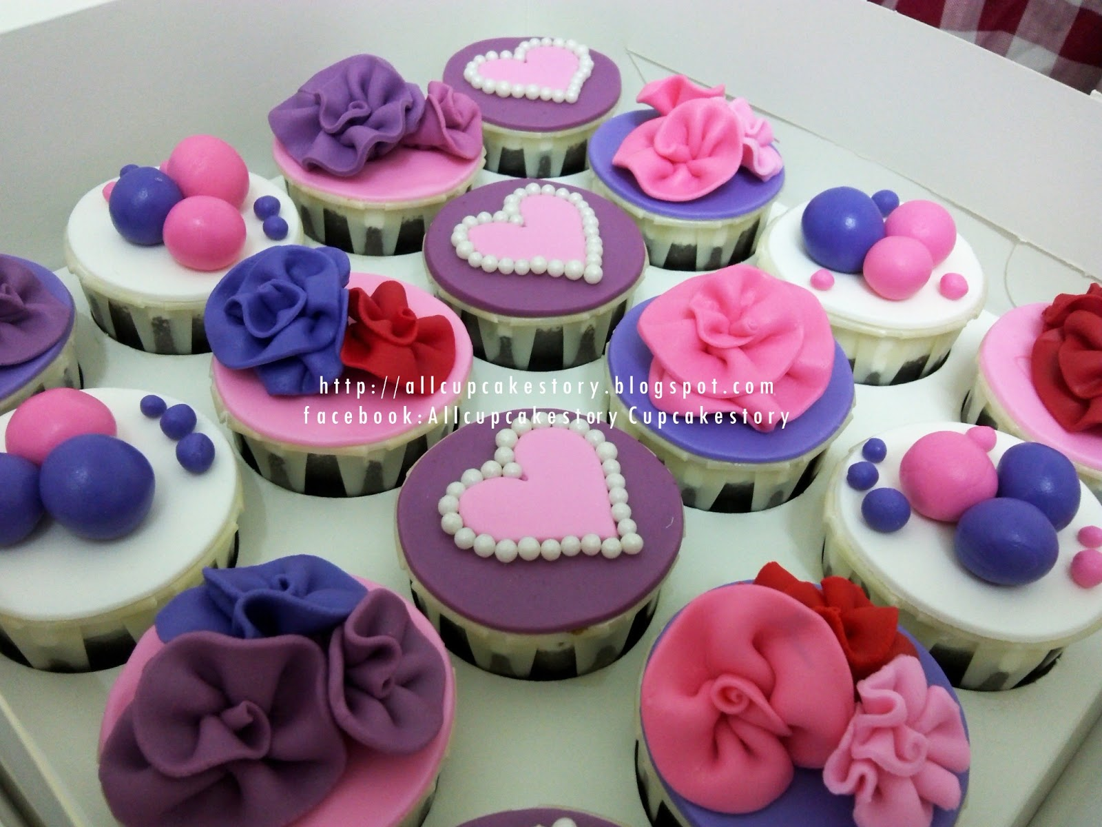 Pink and Purple Birthday Cupcakes