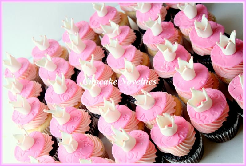 Princess Crown Fondant Cupcake Toppers