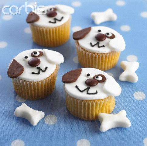 Puppy Dog Decorated Cupcakes