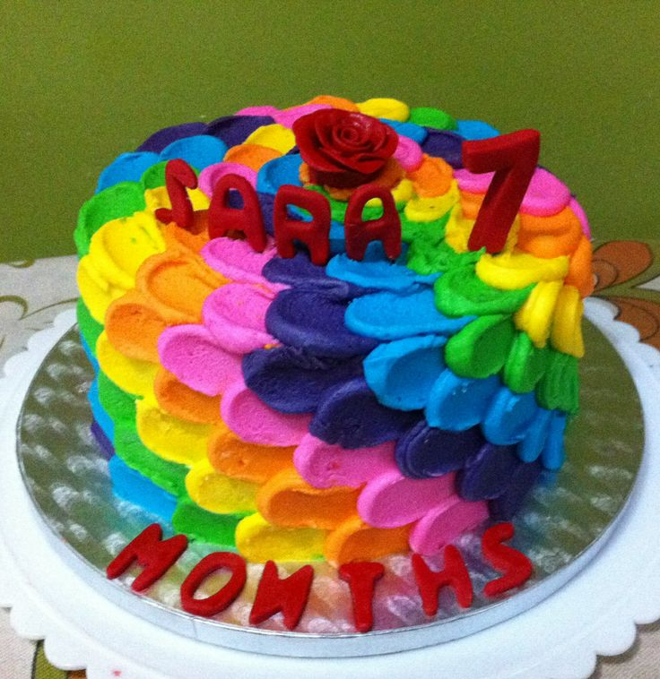 Rainbow Themed Cake