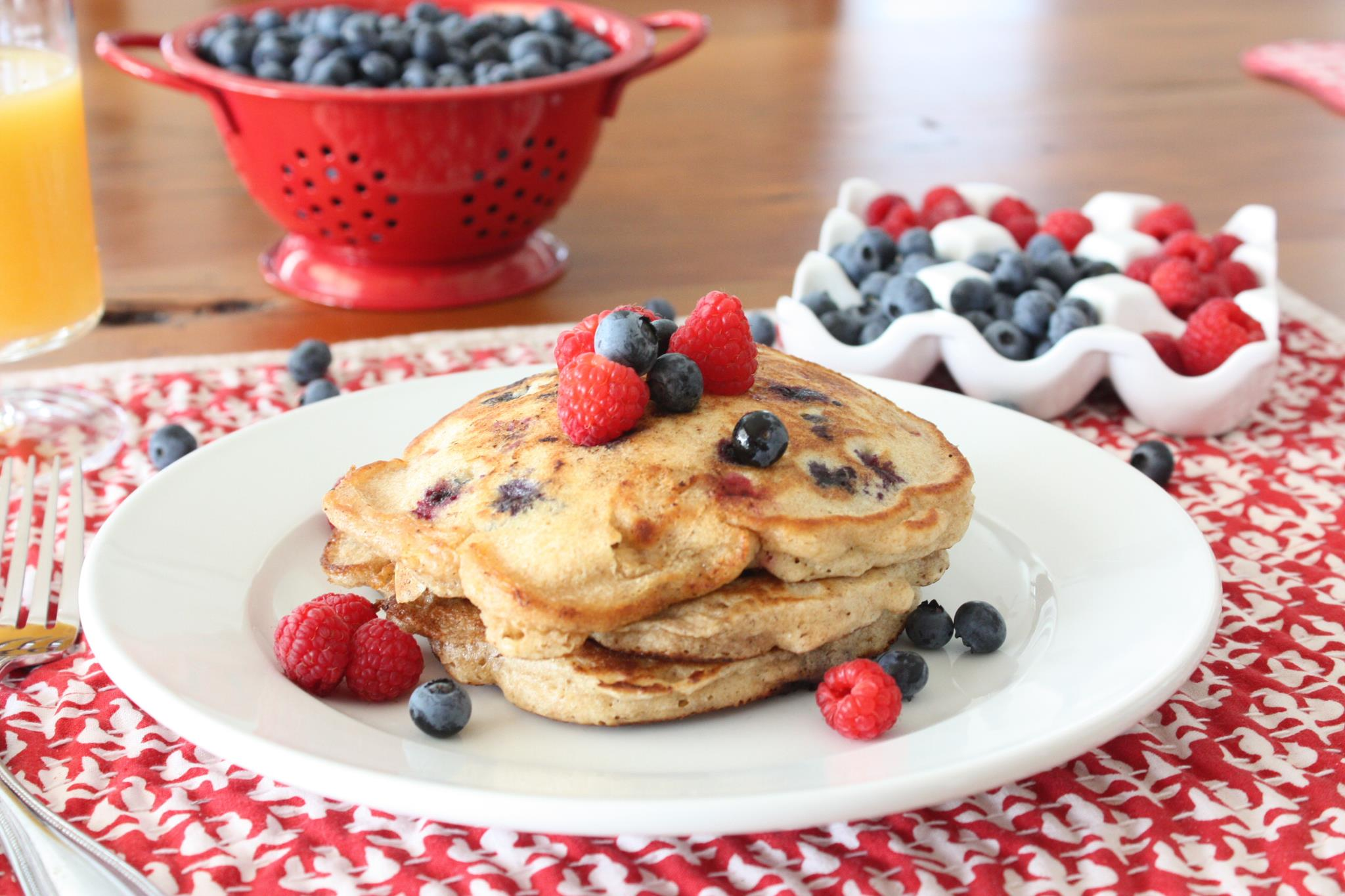 Red White and Blue Pancakes