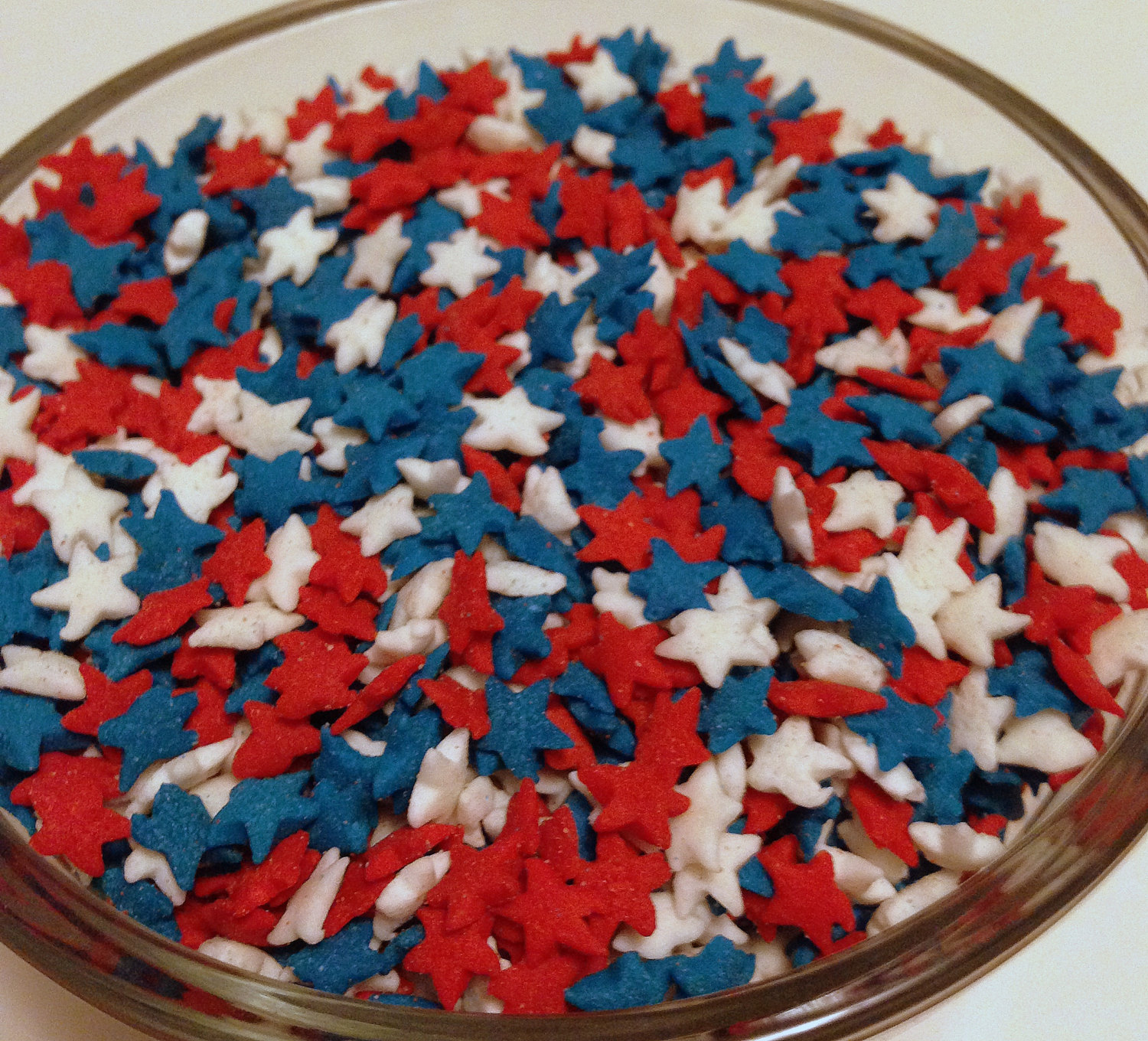 Red White and Blue Star Sprinkles