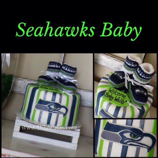 Seattle Seahawks Baby Shower Cake