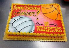 Sheet Cake Volleyball Basketball