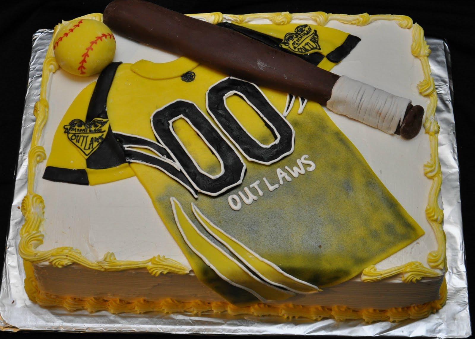 Softball Basketball Birthday Cake