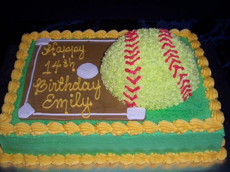 Softball Birthday Cake Ideas