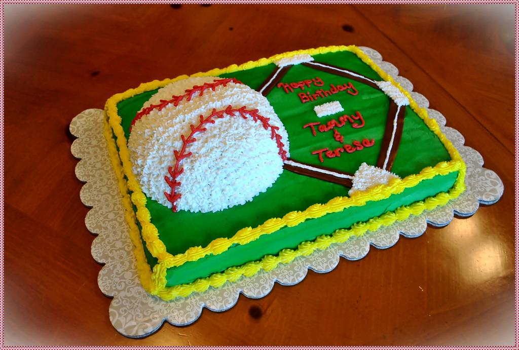 Softball Birthday Sheet Cakes