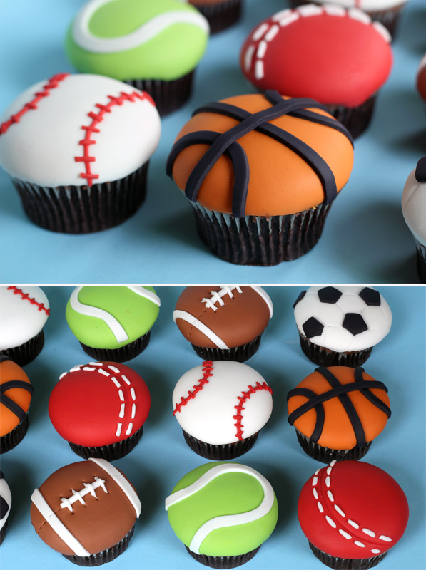 7 Photos of 2 Ball Cupcakes
