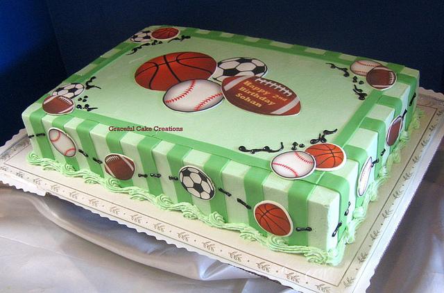 Sports Theme Birthday Sheet Cakes
