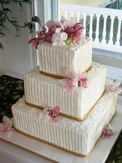 Square Buttercream Wedding Cake Designs