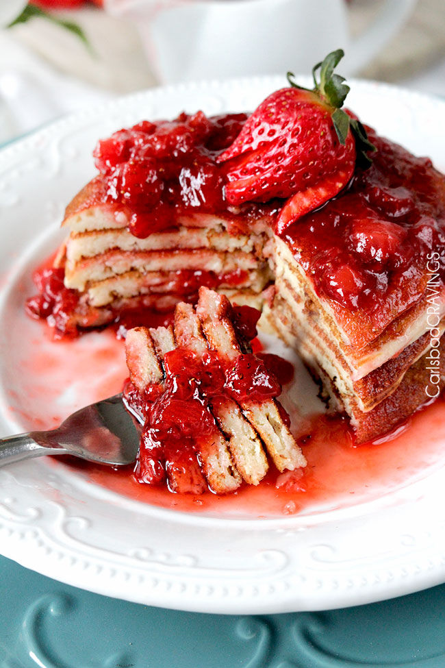 Strawberry Cheesecake Pancake Recipe