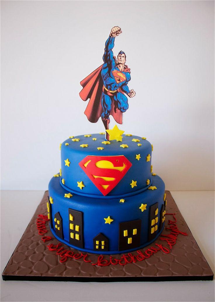 8 Photos of Superman Fondant Cupcakes