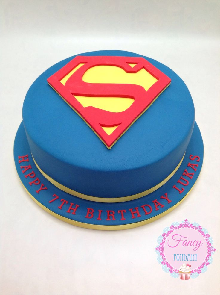 Superman Fondant Birthday Cake