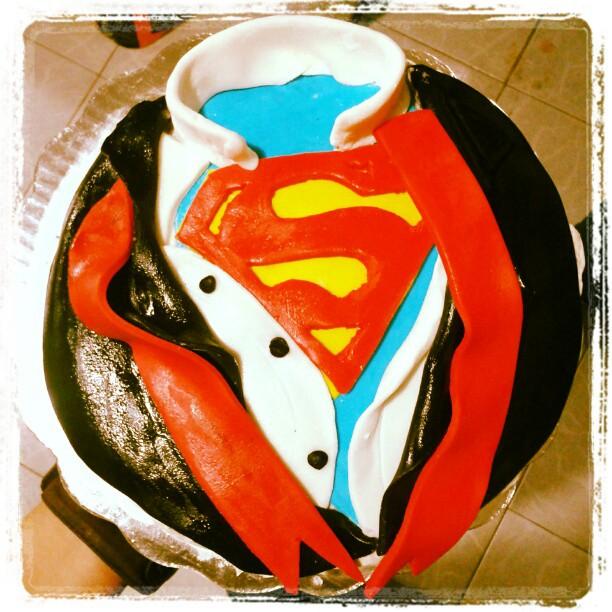 Superman Fondant Cake