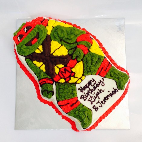 Teenage Mutant Ninja Turtles Ice Cream Cake