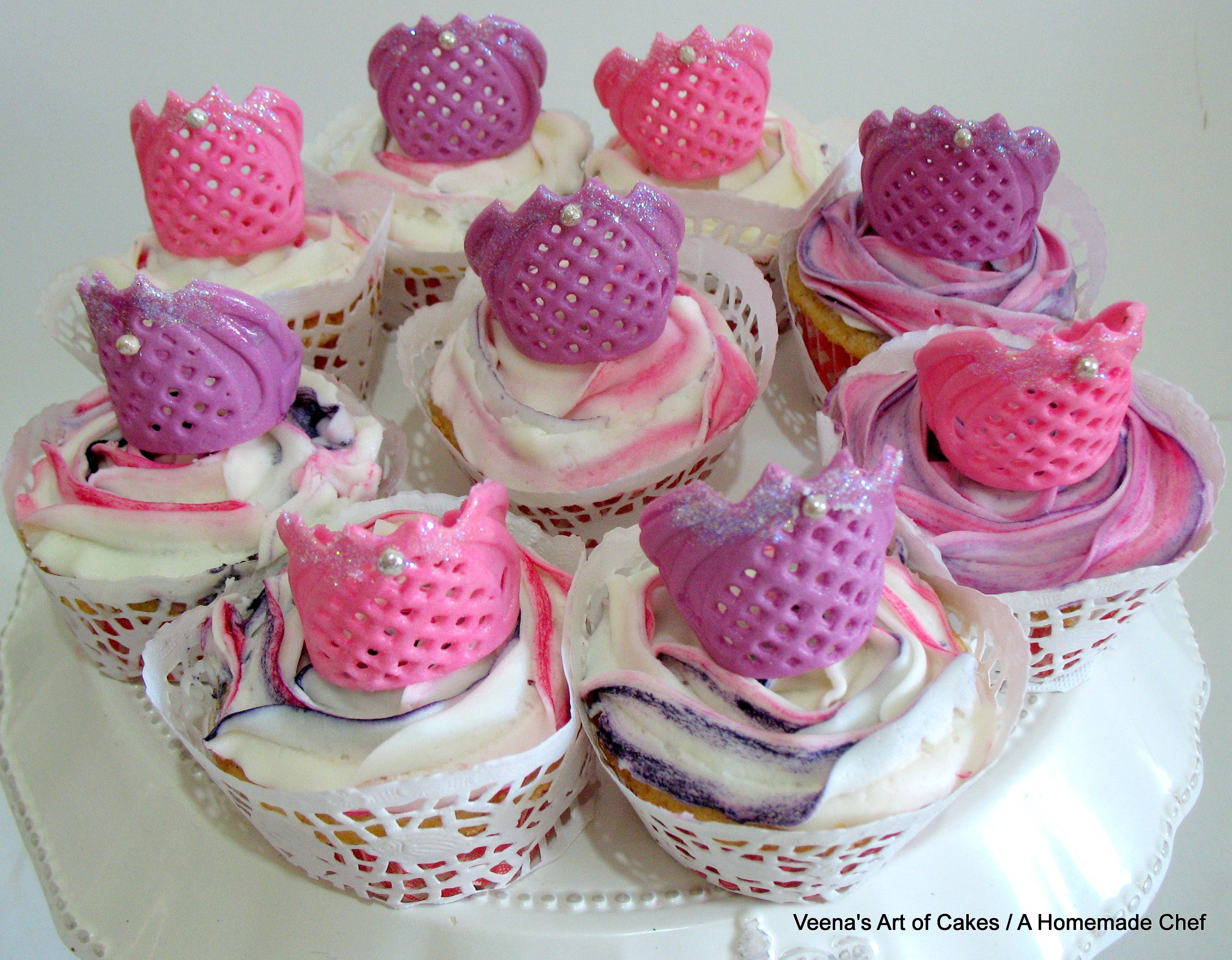 Tiara Princess Crown Cupcake Toppers