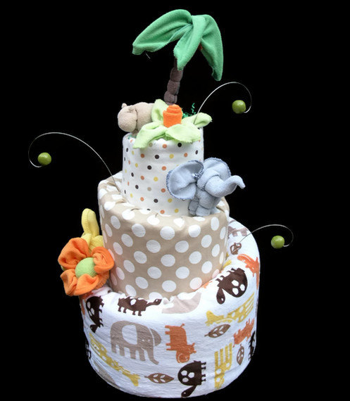 Topsy Turvy Diaper Cakes for Baby Shower