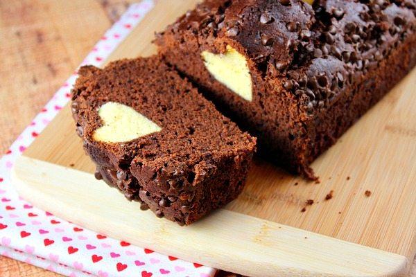 Valentine Surprise Chocolate Loaf Cake