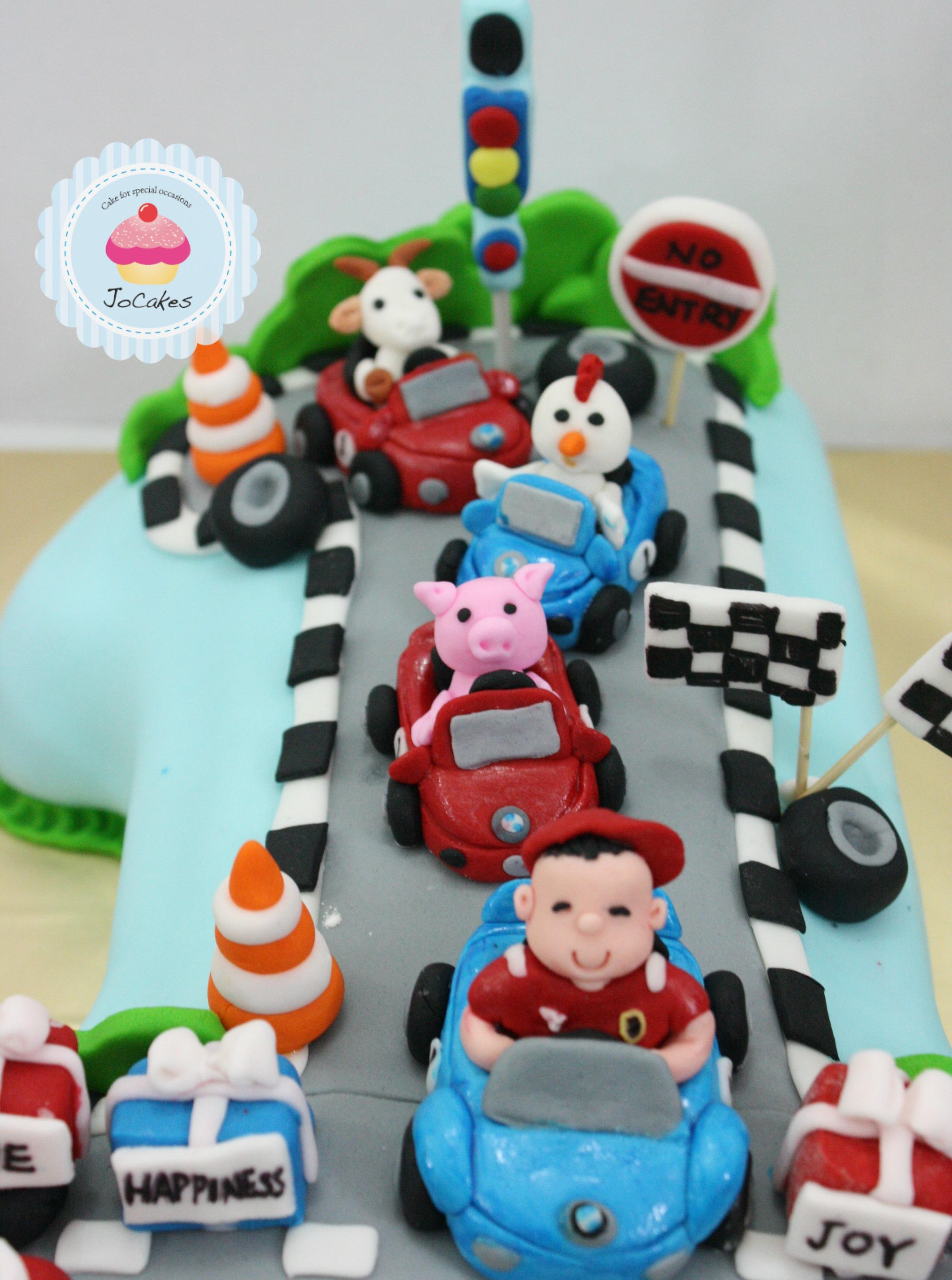 1st Birthday Car Cake